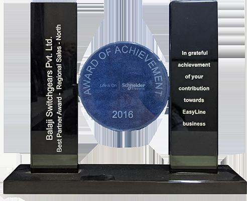 Best Partner Award Regional Sales- North by Schneider Electric, 2016