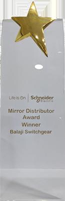 Mirror Distributor Award by Schneider Electric, 2017